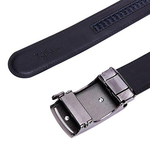 Belt 35mm Buckle I Men Black s Chrom Leather L Automatic YoMeiJun wtO6pq8