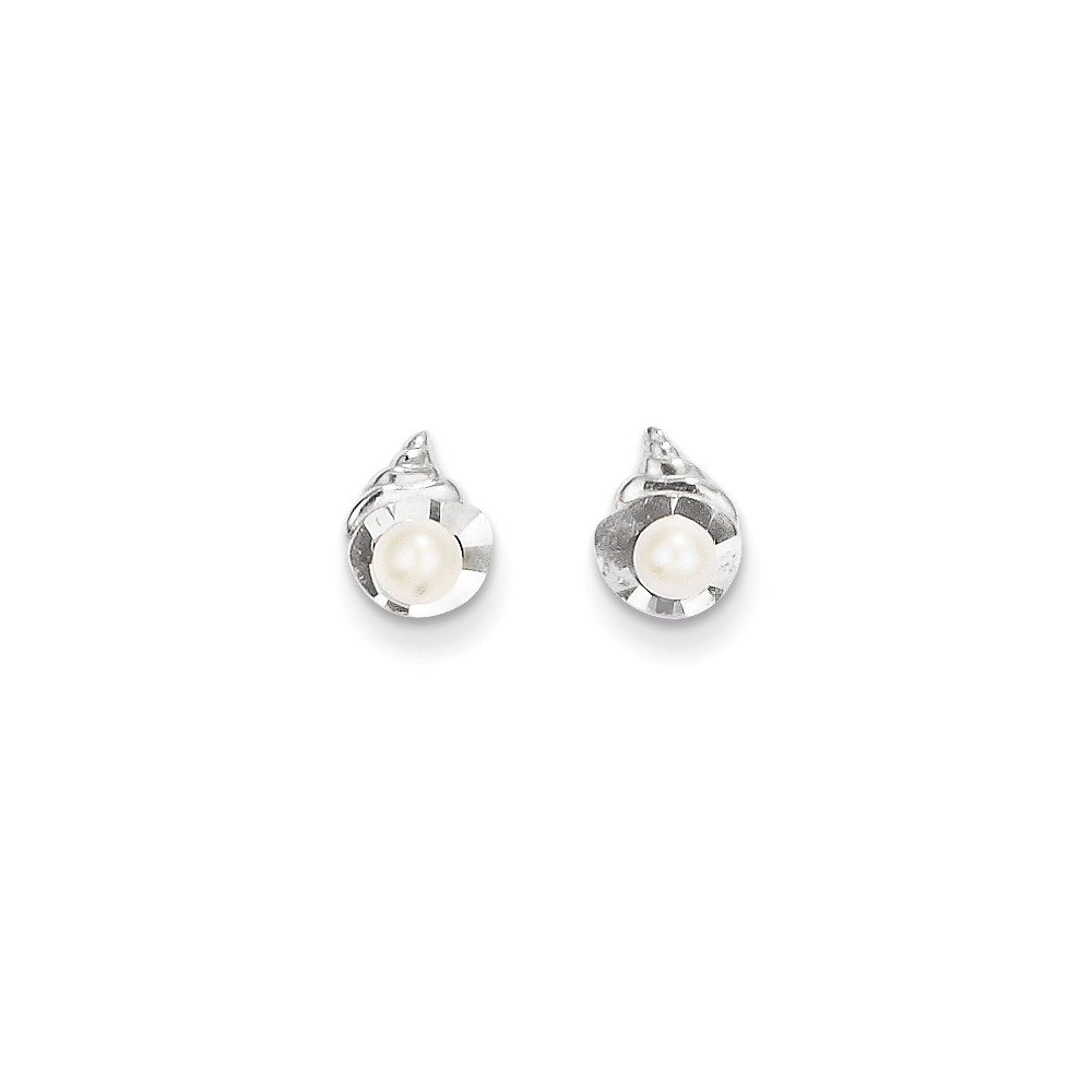 ICE CARATS 14k White Gold Freshwater Cultured Pearl Post Stud Earrings Fine Jewelry Gift Set For Women Heart by ICE CARATS (Image #3)