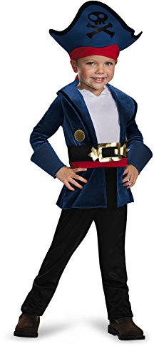 Captain Jake Classic Costume, Medium (3T-4T) (Jake And The Neverland Pirates Cupcake Wrappers)