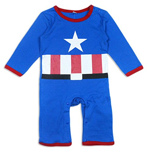 BABY Long Sleeves Pajama/ Romper Captain America