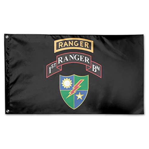 NPZBHoney3x5 1st Battalion 75th Ranger Regiment Flag 3' X 5' Ft Banner Breeze Flag