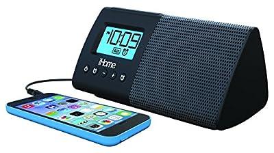 iHome-iHM46BC-Portable-USB-Charging-Dual-Alarm-Clock-Speaker-System----Black
