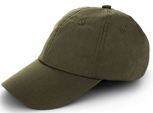 Army Outfit Men (TARTINY Unisex Classic Plain 100% Cotton Baseball Cap, Low Profile Adjustable Curved Visor Hat For Men & Women(Army Green))