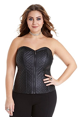 womens-plus-size-fresca-quilted-faux-leather-club-corset-top
