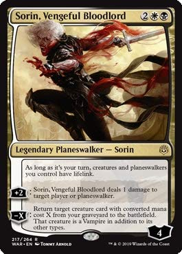 Magic: The Gathering - Sorin, Vengeful Bloodlord - War of The Spark