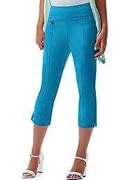 URREBEL UR Rebel UR Rebel Pants for Womens-Simon Chang Microtwill Capri(Style#6235)