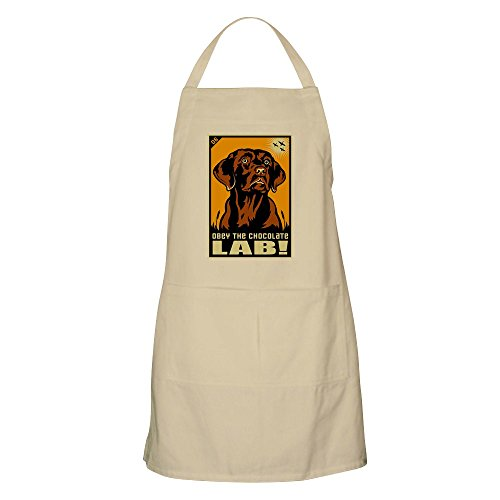 CafePress Obey The Chocolate Lab! BBQ Apron Kitchen Apron with Pockets, Grilling Apron, Baking Apron
