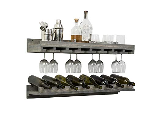 Luxe bottle and glass Wine Set (Grey, 36 Inch)