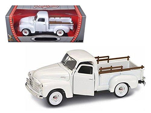 Maisto 1950 GMC Pickup White 1/18 Model by Road Signature