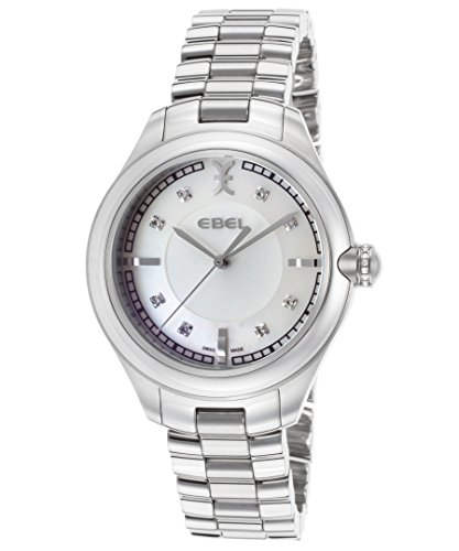 Ebel 1216136 Women's Onde Diamonds Stainless Steel White Mop Dial 36 Mm Watch