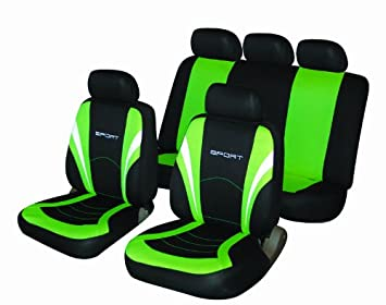 Peugeot 206 207 Green and Black Sports Style Car Seat Covers: Amazon ...