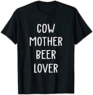 Cool Gift Cow mother beer lover t-shirt - Cow gift for Mother's Day Women Long Sleeve Funny Shirt / Navy / S - 5XL