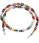 humlbird Mask Chain for Women Glass Chain Mask Lanyard Tortoise Mask Holder Chain Acrylic Sunglas...