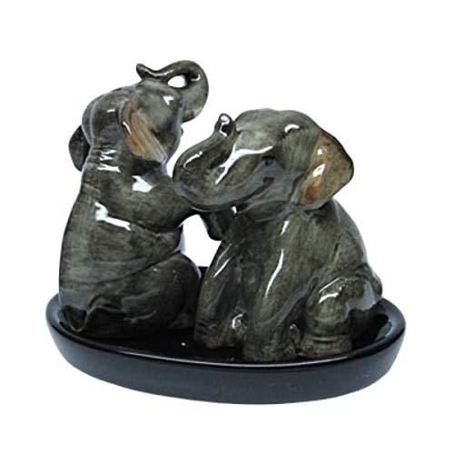 dise/ño de Elefantes B2SEE LTD Elefant cer/ámica, con platillo Juego de salero y pimentero