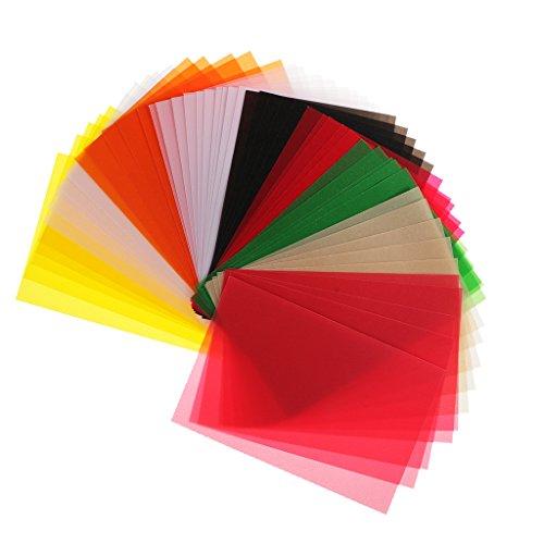 MagiDeal 50 Pieces 15x10cm Vellum Coloured Translucent Tracing