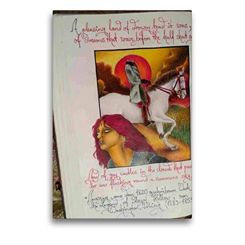 CALVENDO Toile de Lin de qualité supérieure 50 x 75 cm - Un Motif du Calendrier de Sebastian Misseling - Fabelwesen - Tableau sur châssis - Impression sur Toile véritable - Art