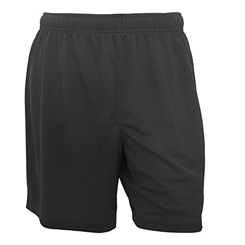 Fruit of the Loom Mens Moisture Wicking Performance Sport Shorts (M) (Black) (Best Boxer Shorts Uk)