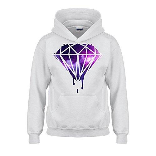 Artix Galaxy Diamond Unisex Hoodie Sweatshirts Small White