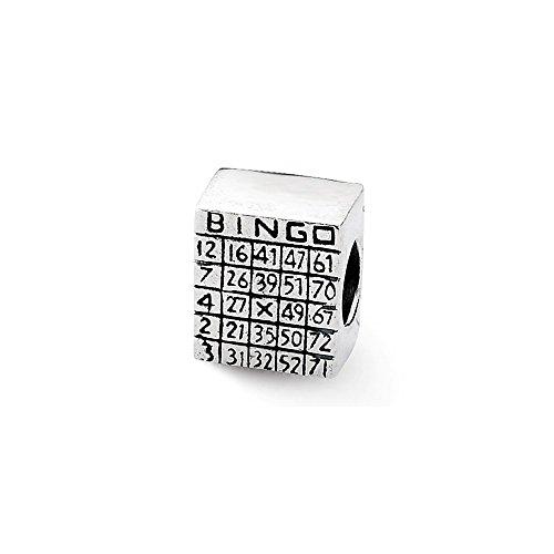 Silver Sterling Bingo (Sterling Silver Reflections Bingo Card Bead)