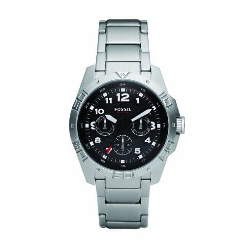 Dial Multifunction Watch (Fossil Men's BQ9401 Stainless Steel Bracelet Black Analog Dial Multifunction Watch)