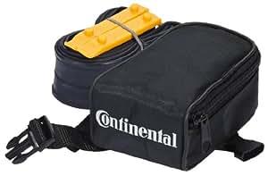 Continental 100388 Race 28 S42 - Bolsa para sillines de bicicletas con cámara de aire y 2 palancas, color negro