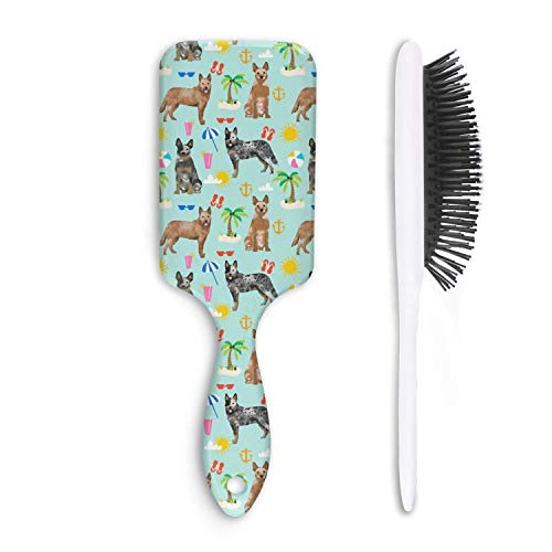 Wet And Dry beach Australian Cattle Dog Beauty Natural Detangle Hairbrush For Women And Men Grooming Styling & Shaping ()
