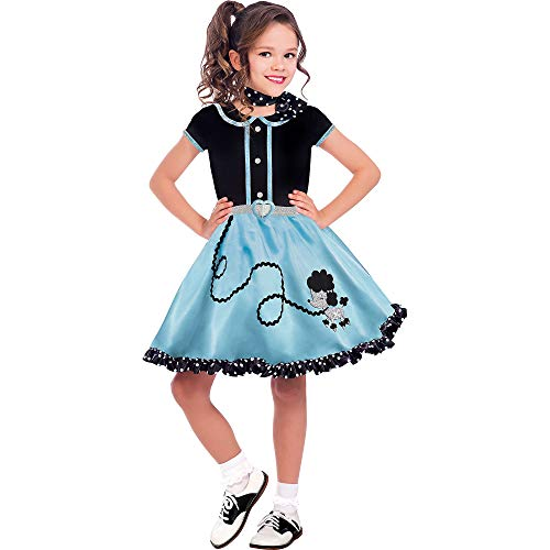 Suit Yourself At The Hop Poodle Skirt Halloween Costume for Girls, Small, with Scarf