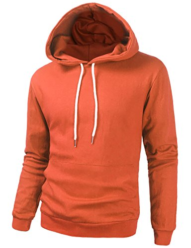 Tov Nine Mens Long Sleeve Pullover Hooded Sweatshirt Slim Fit Lightweight Hoodie