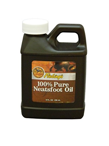 Fiebing's 100% Pure Neatsfoot Oil – Natural Leather Preservative – Great for Boots, Baseball Gloves, Saddles and More – 8 oz