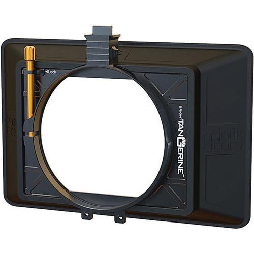 Bright Tangerine Misfit ATOM 4x5.65'' and 4x4'' Ultra Lightweight 2-Stage Clip-On Matte Box with Detachable Lens Shade, 114mm Clamp Attachment by Bright Tangerine