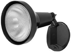 Globe Electric 69008 150W 1 Light Halogen Outdoor Security Light Fixture, Black Finish