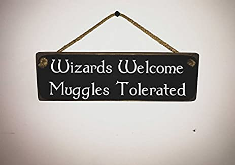 Amazon.com: Harry Potter Sign / Quote - Wizards Welcome Muggles ...