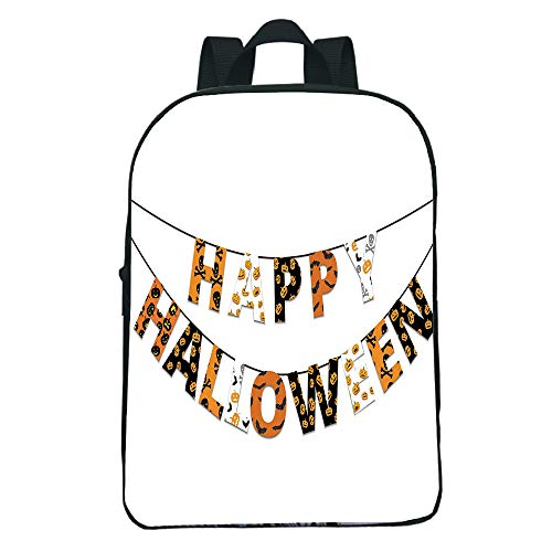 Vogue Pressure Relief Mini Black knapsack,Halloween,Happy Halloween Banner