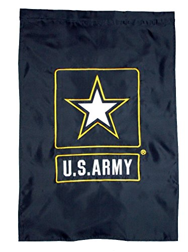 U S Army Premium Quality Embroidered Flag 28″x40″ Two Sided Porch Sleeved Banner