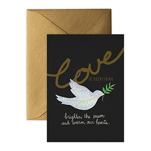 Christmas Cards (Holiday Cards, Greeting Cards), Peaceful Dove with Gold Edge - 10 Cards & Envelopes