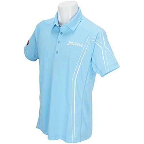 スリクソンゴルフ SRIXON 半袖シャツ?ポロシャツ 半袖ポロシャツ スカイブルー LL