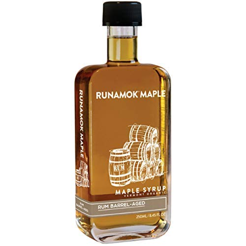 Runamok Maple, Rum Barrel Aged Organic Vermont Maple Syrup, 8.45 Ounce, 250mL ()