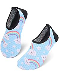 c7c73d4dcbfd7 Kids Water Shoes Girls Boys Outdoor Quick Dry Barefoot Aqua Socks for Sport  Beach Swim Surf