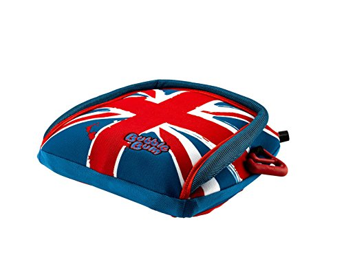 BubbleBum Backless Inflatable Booster Car Seat, Union Jack