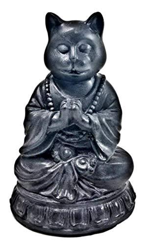 Bellaa 29615 Cat Statue Dhyana Mudra Yoga Zen Pose Buddha 6