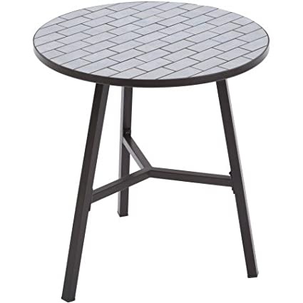 67ea7922a8a Image Unavailable. Image not available for. Color  Better Homes and Gardens  Camrose Farmhouse Mosaic Tile Top Table