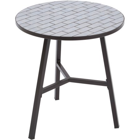Better Homes and Gardens Camrose Farmhouse Mosaic Tile Top Table, Blue