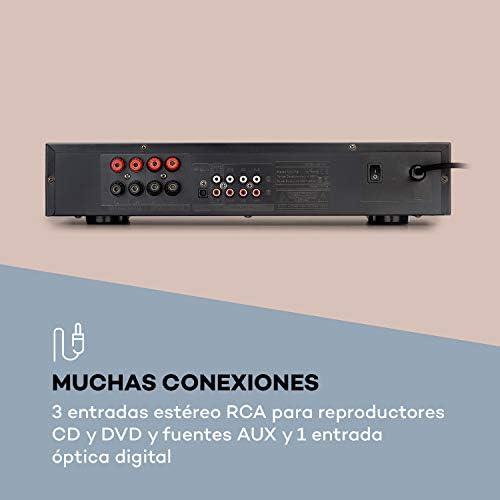AUNA AV2-CD608BT Amplificador estéreo HiFi – Potencia de Salida ...