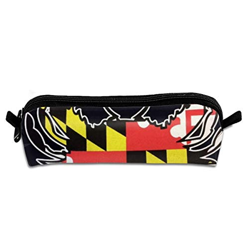 - Maryland State Flag Crab Pencil Case Stationery Pouch Bag Coin Purse Multipurpose Travel Pouch Cosmetic Bag Organizer for Pen with Zipper