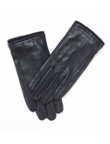 YISEVEN Men's Genuine Nappa Leather Lined Winter Gloves -Black/Touchscreen,Black,11'' by YISEVEN (Image #7)