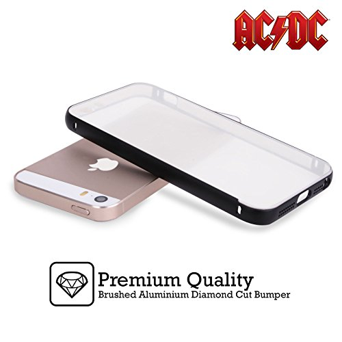 Officiel AC/DC ACDC Album Épingles De Bouton Noir Étui Coque Aluminium Bumper Slider pour Apple iPhone 6 Plus / 6s Plus