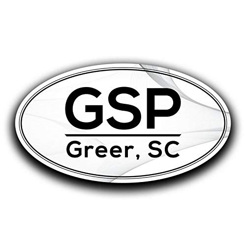 MKS0569 More Shiz GSP Greer South Carolina Airport Code Decal Sticker Home Travel Car Truck Van Bumper Window Laptop Cup Wall Two 5.5 Inch Decals
