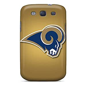 Shock Absorbent Cell-phone Hard Covers For Samsung Galaxy S3 (wto8610XOkS) Provide Private Custom High-definition St. Louis Rams Series