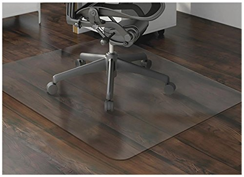 Mitef PVC Chair Or Table Mats for Hardwood Floor Protection, Rectangular and Transparent,1/17 Thickness,23.5''x23.5'' 1/17 Thickness 23.5''x23.5''