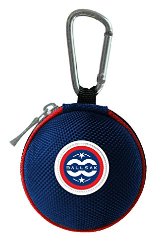Ballsak Sport - Red/White/Blue - Clip-on Cue Ball Case, Cue Ball Bag for Attaching Cue Balls, Pool Balls, Billiard Balls, Training Balls to Your Cue Stick Bag EXTRA STRONG STRAP DESIGN! (Sport Cue Case)